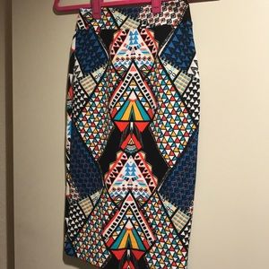 Dresses & Skirts - Patterned midi skirt